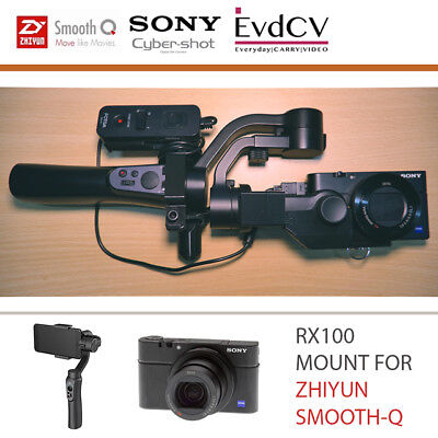 RX100 Mount v2.0 for Zhiyun Smooth-Q Gimbal with Remote Holder