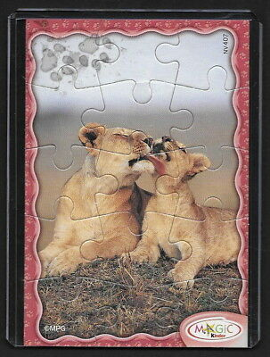 Jouet kinder puzzle 2D Lionnes NV407 France 2008 + étui de protection +BPZ