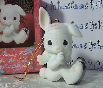 "Precious Moments Ornament ""Sno-bunny Falls For You Like I Do"" Dated Annual 1991"