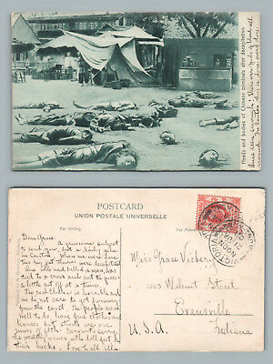 Decapitated Chinese Criminals—Hong Kong Stamp—Antique China Death Cancel USA '09