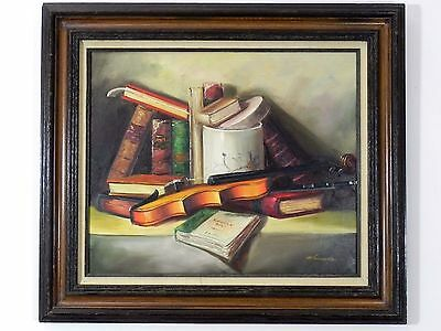 """Antique Vintage Original Oil on Canvas Painting Signed by Artist 32"""" x 28"""""""