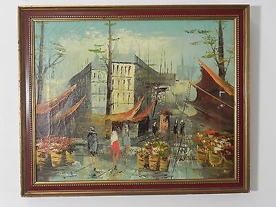 Antique Vintage Original Oil on Canvas Painting signed by Artist 22 X 18