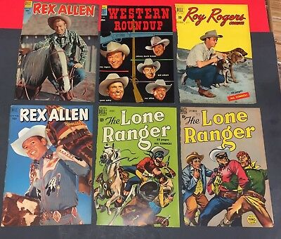 GOLDENAGE DELL WESTERN COMIC BOOK COVER LOT # 8 ( 39 Different )1950's