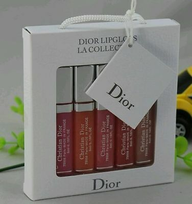 New & Sealed Dior  La Collection Travel Size Pink Lip Gloss Gift Set - Rrp £50
