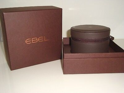 Ebel Luxury Brown Watch Box With Ebel Instruction Book ~ New