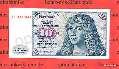 10 DM 1977 YE/B UNC Ros.275 b Pick 31 b Germany - Federal Republic Deutsche Mark