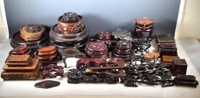 40 Chinese Hardwood Display Stands Lot 388