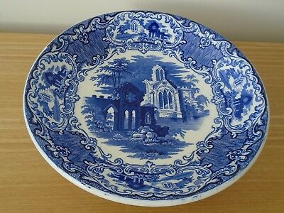 George Jones Blue and White Abbey 1790 31cm Bowl