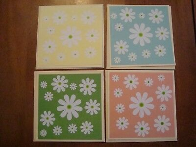 Set of 4 Handmade NOTE CARDS Blank inside. PRETTY!