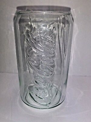 Coca Cola Glass Collectible Shape of Can Novelty