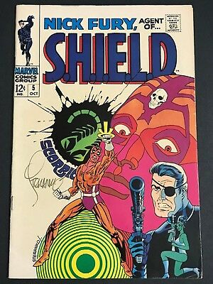 Nick Fury, Agent of SHIELD #5  Oct 1968,Marvel SIGNED by Steranko  FN/VF