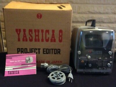 Yashica 8 Project Editor Vintage Movie Film Editor In Box & Manual Works