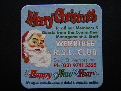 Werribee Rsl Club Synott St 0397415525 Merry Christmas Notes Coaster