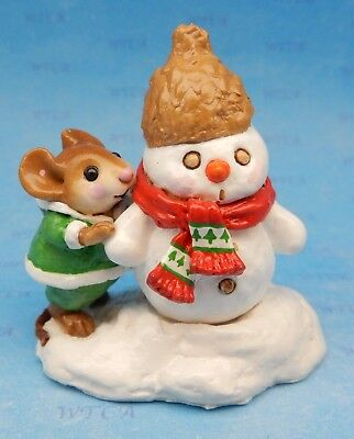 SNOW BUDDIES by Wee Forest Folk, WFF# M-188, Retired Snowman and Mouse