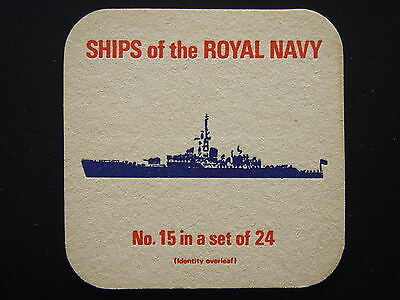 SHIPS OF THE ROYAL NAVY No.15 IN A SET OF 24 FRIGATES ROTHESAY CLASS 12 COASTER