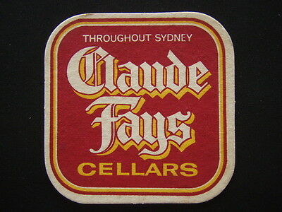 Schweppes Export Cola Claude Fays Cellars Throughout Sydney Coaster
