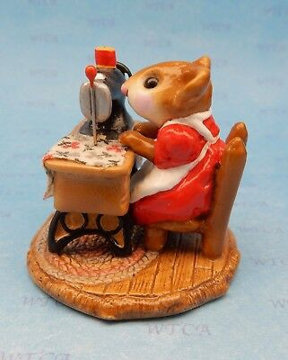 MISS BOBBIN by Wee Forest Folk, WFF# M-040, Retired Red Color Version 2