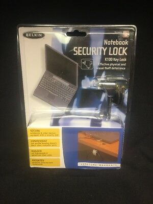 (AL) Belkin notebook security lock K100 key lock; Free US Shipping