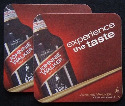 Johnnie Walker Red Label Experience The Taste Keep Walking 2 x Coaster (B300)