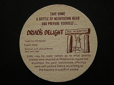 I'll Have A Merrydown Mead Druid's Delight Red Brown Coaster