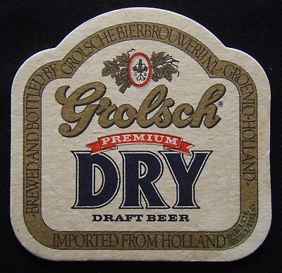 Grolsch Premium Dry Draft Beer Imported From Holland Coaster (B305)