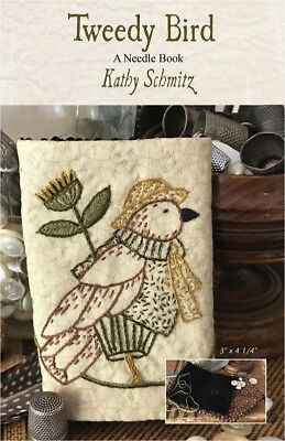 Tweedy Bird Embroidered Needle Book Pattern