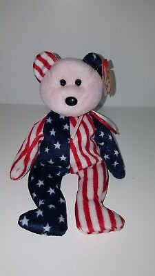TY Beanie Baby Babies Spangle 1999 Retired Errors RARE Pink Face Excellent