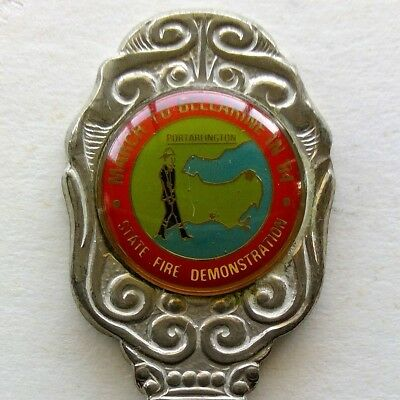 March To Bellarine State Fire Demonstration Souvenir Spoon Teaspoon (T118)