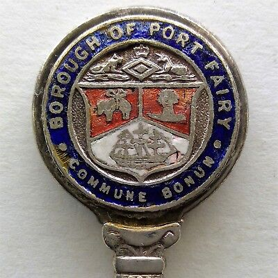 Borough Of Port Fairy Commune Bonum Stokes EPNS Souvenir Spoon Teaspoon (T120)