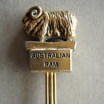 Australian Ram Figurine Randa 84 Souvenir Spoon Teaspoon (T100)