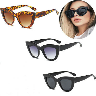 Luxury Ladies Womens Oversized Cat Eye Sunglasses Vintage Style Retro Shades KU