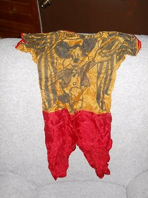 VINTAGE 1960`s MICKEY MOUSE HALLOWEEN COSTUME WALT DISNEY SMALL KIDS OUTFIT NICE