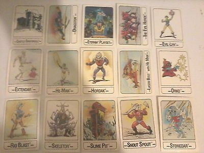 Vintage 1986 Wonder Bread Mattel He-Man Masters of the Universe Cards Complete