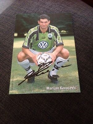 Marijan Kovacevic VFL Wolfsburg Signed Official Club Photo Card