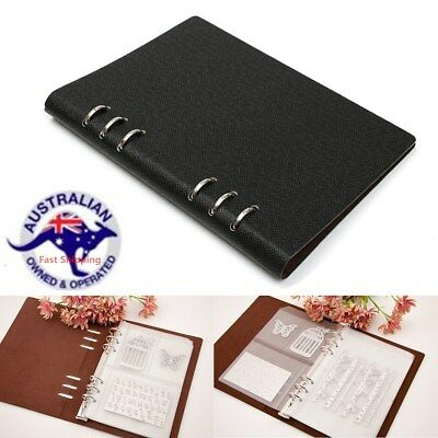 DIY Stencil Dies Cutting Template Collect Binder Loose-leaf Leather Cover Book