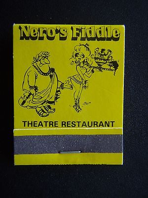 Nero's Fiddle Theatre Restaurant 454 Whitehorse Rd Mitcham 8748250 Matchbook