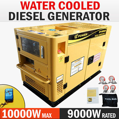 NEW H-POWER 10kVA Max 9kVA Rated Diesel Generator 20HP Single Phase Commercial
