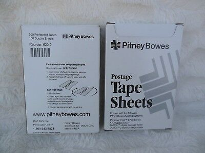 Pitney Bowes E700 Series PostageTape Sheets 300 Labels Set of Two Boxes