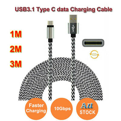 1M/2M/3M USB 3.1 Type C Premium Braided USB-C to USB Male Data Cable for Samsung