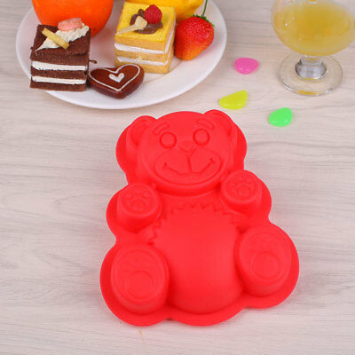 DIY 3D Teddy Bear Cake Jelly Silicone Soap Chocolate Molds Mould Baking Tool
