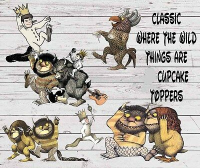Cupcake Topper Where the Wild Things are Birthday Shower Party Cake Pops Die Cut