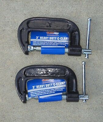"""Pair of Grip #31032, 3"""" Heavy Duty """"C"""" Clamps."""