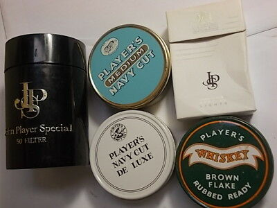 4 Old Empty Tobacco Tins. Players. VG