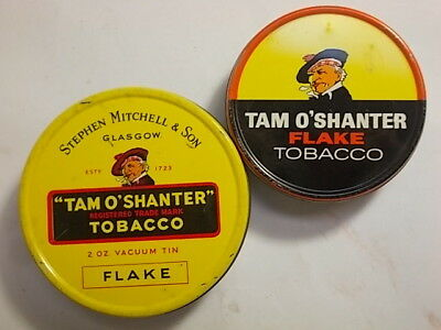 2 Old Empty Tobacco Tins. Tam O Shanter.  G/VG