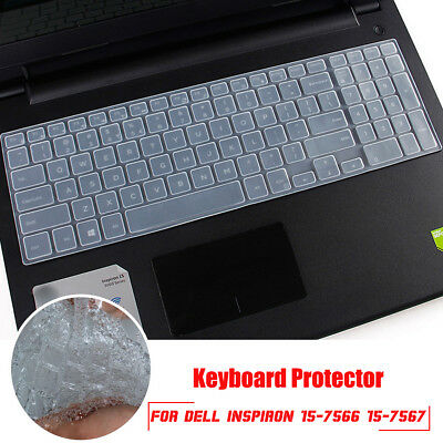 Silicone Keyboard Film Cover Protector Skin For DELL Inspiron 15-7566 15-7567
