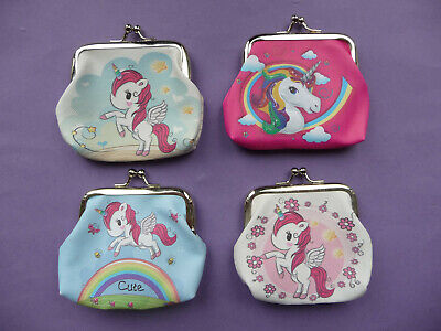 UNICORN Girls Childrens Coin Hasp Purse 5 designs party bag filler Cute NEW