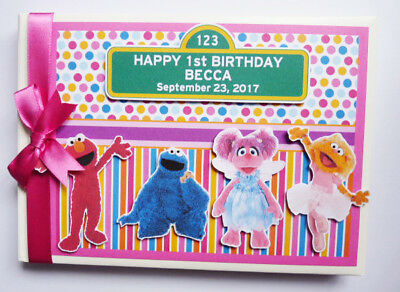 Personalised Sesame Street Birthday Guest Book - Any Design