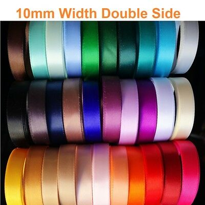 25Yards   High Quality Double(faced) Satin  Ribbon (10mm)