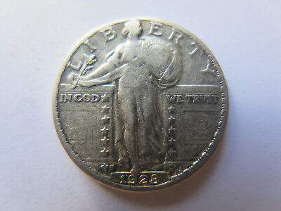 1928 S Usa Standing Liberty Silver Quarter Dollar Nice Collectable Condition