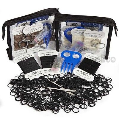 Elico Horse Pony Plaiting Kit For Showing Bands Thread Scissors Comb